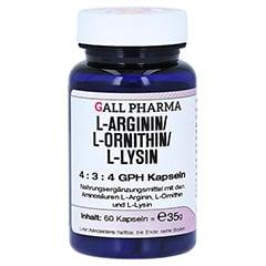 L-ARGININ/L-ORNITHIN/L-Lysin 4:3:4 GPH Kapseln 60 Stück