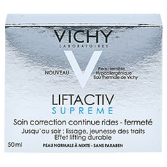 Vichy LIFTACTIV SUPREME Tagescreme normale Haut + gratis Vichy Liftactiv Night Supreme 15 ml 50 Milliliter - Rückseite