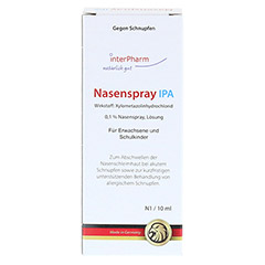 Nasenspray IPA 10 Milliliter N1 - Vorderseite
