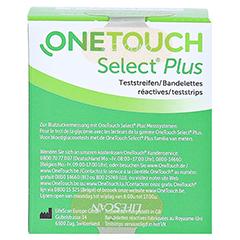 OneTouch Select Plus Teststreifen 50 Stück - Rückseite