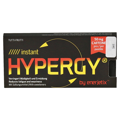 HYPERGY enerjetix tutti frutti Pastillen 6x1.6 Gramm