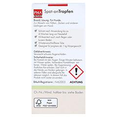 PHA Spot-on Tropfen f.Hunde 2x2 Milliliter - Rückseite