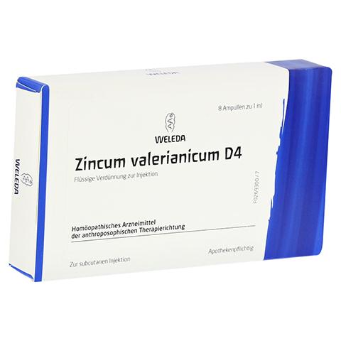 ZINCUM VALERIANICUM D 4 Ampullen 8x1 Milliliter N1