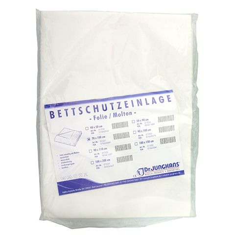 BETTSCHUTZEINLAGE Folie Molton 70x100 cm 1 Stück