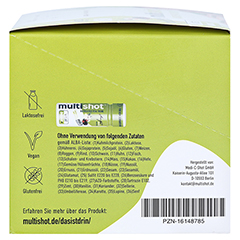 MULTISHOT vital boost+ Trinkampullen 12x60 Milliliter - Linke Seite