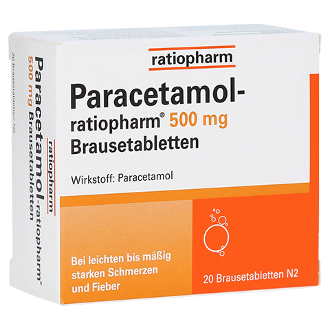 Paracetamol-ratiopharm 500mg 20 Stück N2