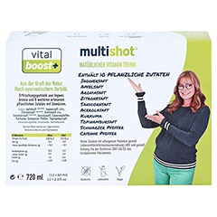 MULTISHOT vital boost+ Trinkampullen 12x60 Milliliter - Rückseite