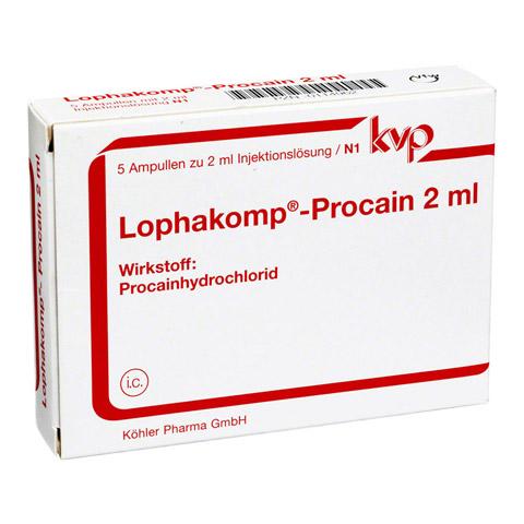 LOPHAKOMP Procain 2 ml Injektionslösung 5x2 Milliliter N1