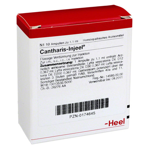 CANTHARIS INJEEL Ampullen 10 Stück N1