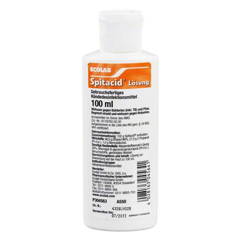 SPITACID Händedesinfektion Taschenflasche 100 Milliliter