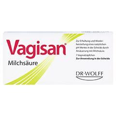VAGISAN Milchsäure Vaginalzäpfchen 7 Stück - Vorderseite