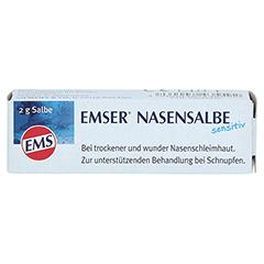 EMSER Nasensalbe Sensitiv 2 Gramm - Vorderseite