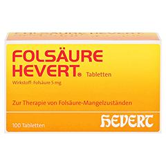 FOLSÄURE HEVERT Tabletten 100 Stück N3 - Vorderseite