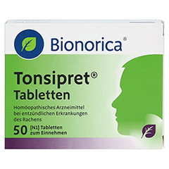 TONSIPRET Tabletten 50 Stück N1 - Vorderseite