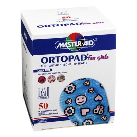 ORTOPAD for girls medium Augenokklusionspflaster 50 Stück