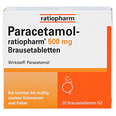 Paracetamol-ratiopharm 500mg 20 Stück N2 - Vorderseite