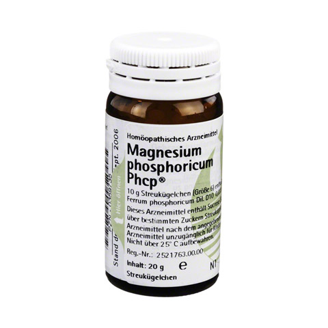 MAGNESIUM PHOSPHORICUM PHCP Globuli 20 Gramm N1