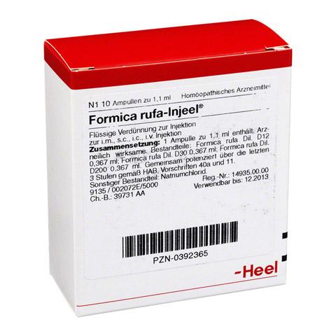 FORMICA RUFA INJEEL Ampullen 10 Stück N1