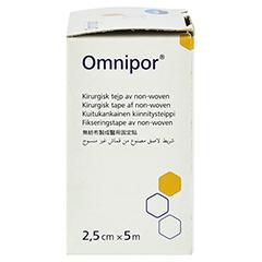 OMNIPOR Fixierpflaster Vlies 2,5 cmx5 m 1 Stück - Linke Seite