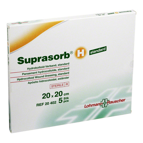 SUPRASORB H Hydrokoll.Verb.standard 20x20 cm 5 Stück