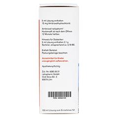 Ambroxol-ratiopharm Hustensaft 100 Milliliter N1 - Rechte Seite