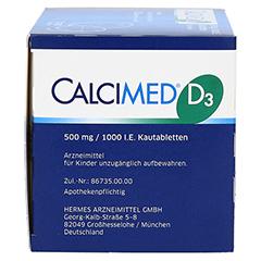 Calcimed D3 500mg/1000 I.E. 120 Stück N3 - Rechte Seite