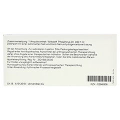 PHOSPHORUS D 30 Ampullen 10x1 Milliliter N1 - Rückseite