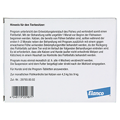 PROGRAM Suspens.f.Katzen v.4,5-9 kg/266 mg Amp. 6 Stück - Rückseite