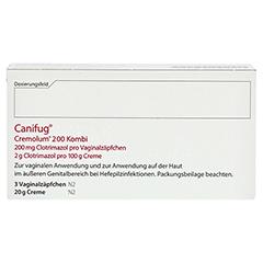 Canifug-Cremolum 200 (3+20g) 1 Packung N2 - Rückseite