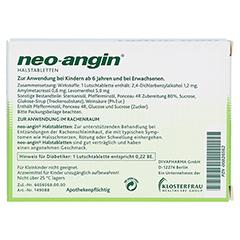 Neo-Angin Halstabletten 24 Stück N1 - Rückseite