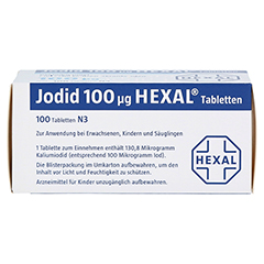 Jodid 100µg HEXAL 100 Stück N3 - Oberseite