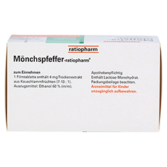 MÖNCHSPFEFFER-ratiopharm 4mg 100 Stück N3 - Oberseite