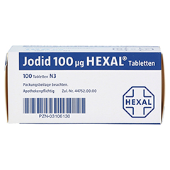 Jodid 100µg HEXAL 100 Stück N3 - Unterseite