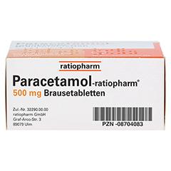 Paracetamol-ratiopharm 500mg 20 Stück N2 - Unterseite