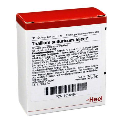THALLIUM SULFURICUM INJEEL Ampullen 10 Stück N1