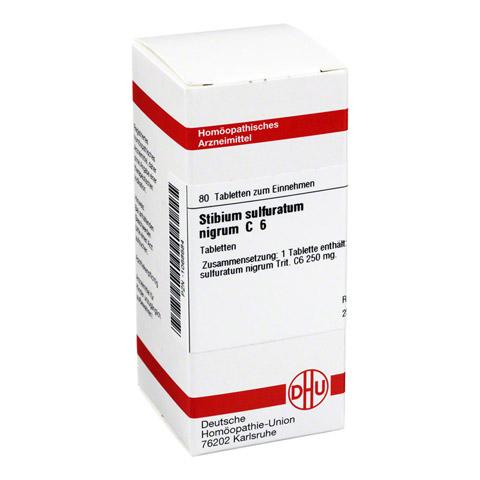 STIBIUM SULFURATUM NIGRUM C 6 Tabletten 80 Stück N1