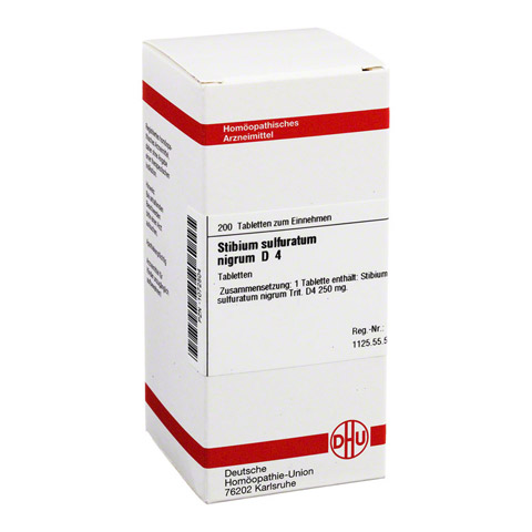 STIBIUM SULFURATUM NIGRUM D 4 Tabletten 200 Stück N2