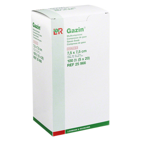 GAZIN Mullkomp.7,5x7,5 cm steril 12fach 5x20 Stück
