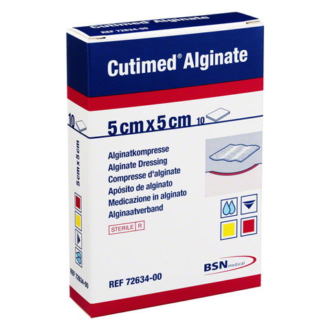 CUTIMED Alginate Alginatkompressen 5x5 cm 10 Stück
