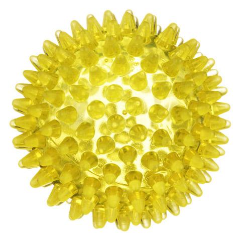 IGELBALL 8 cm gelb transparent 1 Stück