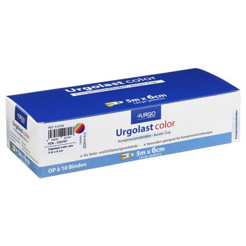 URGOLAST Color Mix Binde 6 cmx5 m 10 Stück
