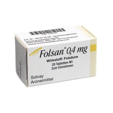 FOLSAN 0,4 mg Tabletten 20 Stück N1