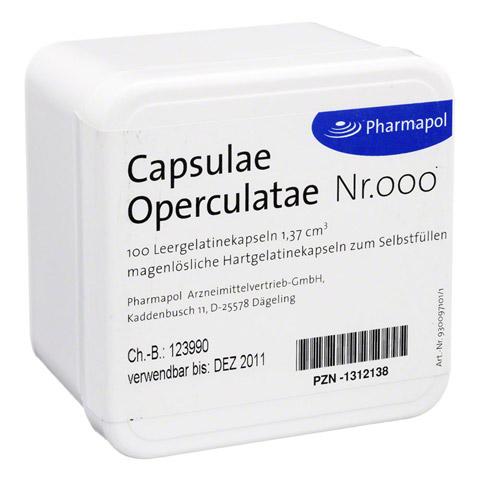 CAPSULAE Operculatae Kapseln Nr.000 1,37 100 Stück