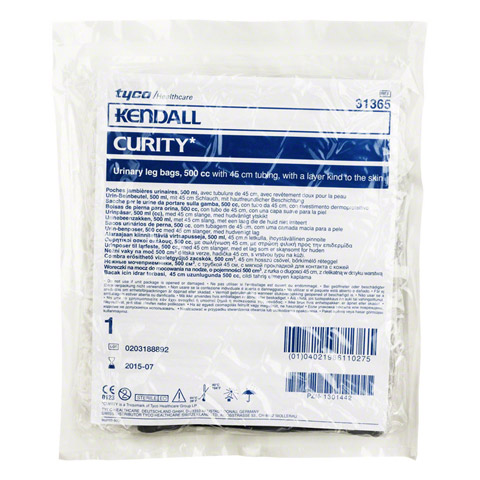 CURITY Urin Beinbtl.500 ml 45 cm 1 Stück
