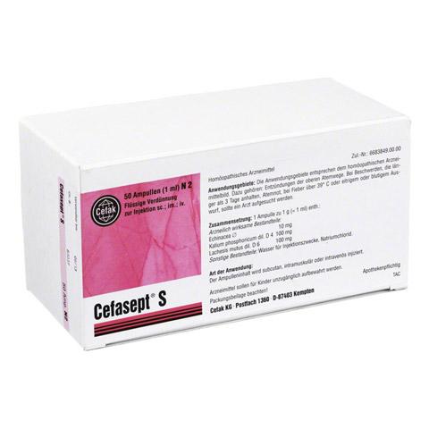 CEFASEPT S Injektionslösung 50 Stück N2