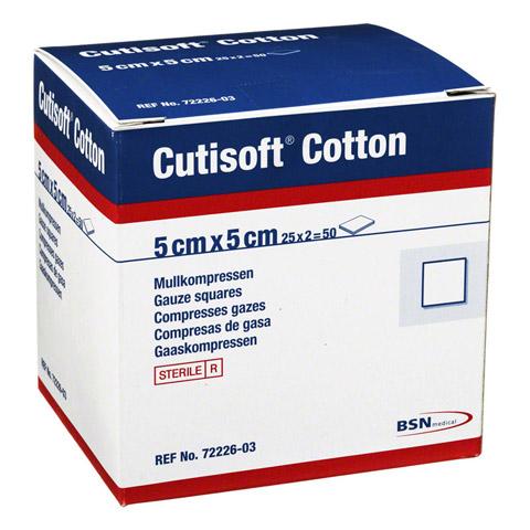 CUTISOFT Cotton Kompr.5x5 cm steril 25x2 Stück