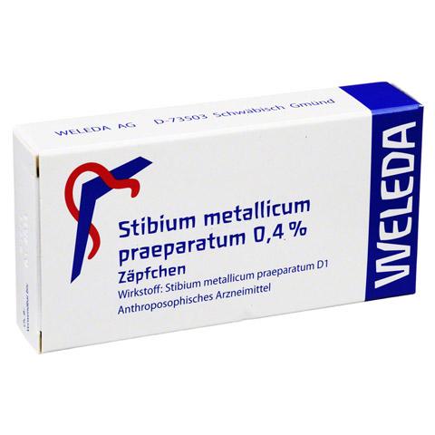STIBIUM MET. PRAEPARATUM 0,4% Suppositorien 10 Stück N1