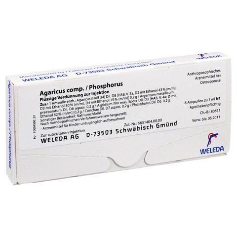 AGARICUS COMP./Phosphorus Ampullen 8x1 Milliliter N1