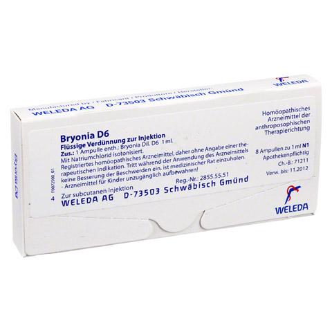 BRYONIA D 6 Ampullen 8x1 Milliliter N1