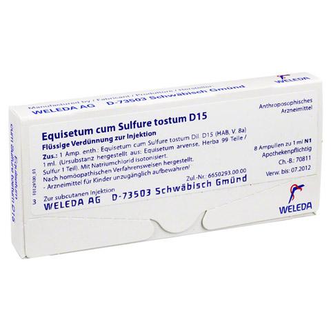 EQUISETUM CUM Sulfure tostum D 15 Ampullen 8x1 Milliliter N1
